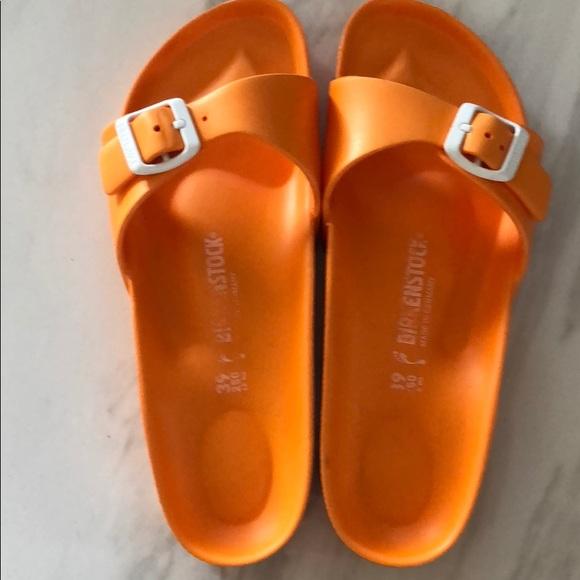 Sandals Plastic Size Birkenstocks 39 Orange 0wNnv8mO